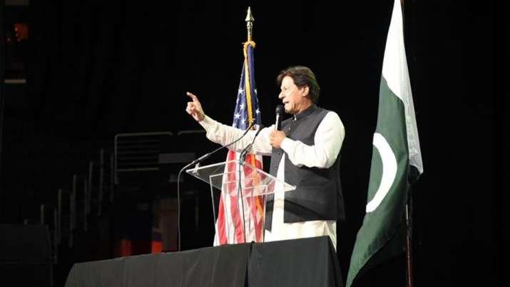 Baloch activists disrupt Pakistan PM Imran Khan's speech during a community event in Washington DC |- India TV