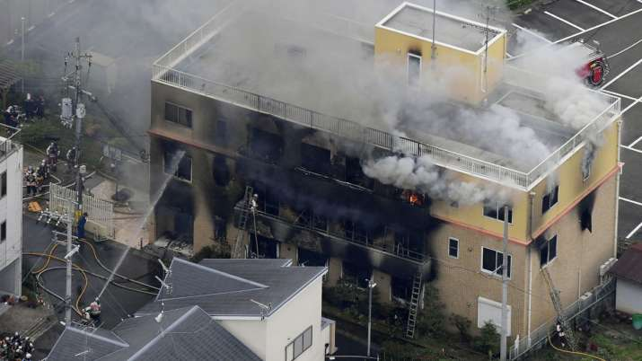 Japan fire: Arson attack on animation studio in Kyoto leaves several dead | AP- India TV