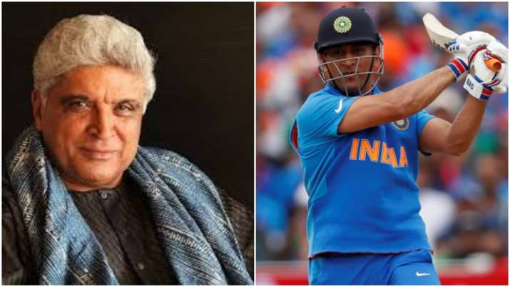 Javed Akhtar and MS Dhoni- India TV