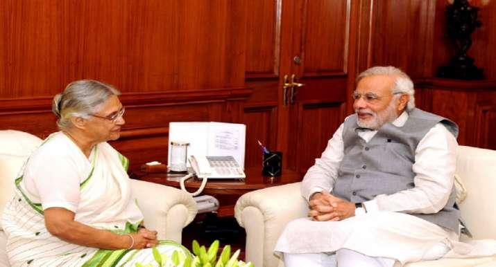 Modi with Sheila- India TV