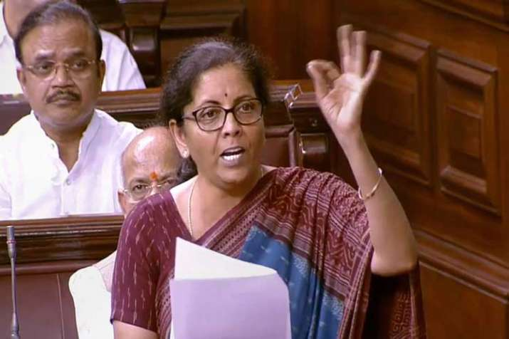 Union Finance Minister Nirmala Sitharaman speaks in the...- India TV