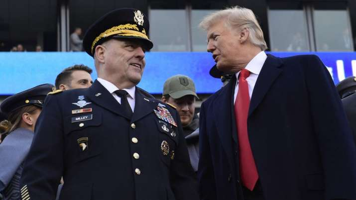 President Donald Trump, right, talks with Army Chief of Staff Gen. Mark Milley   AP File- India TV