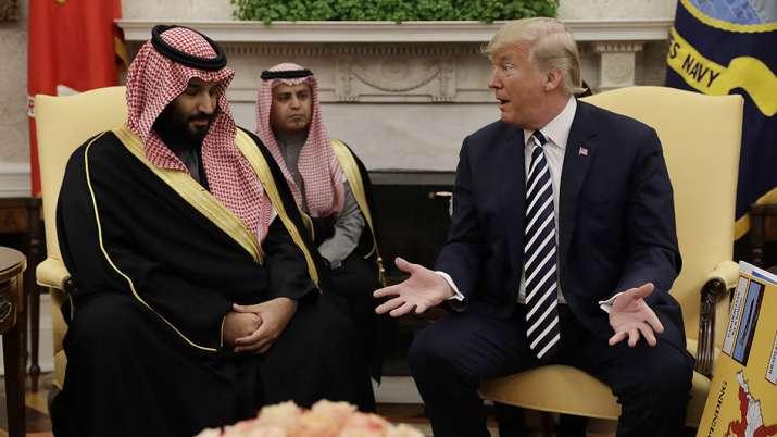 President Donald Trump with Saudi Crown Prince Mohammed bin Salman   AP File- India TV