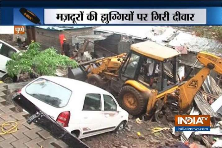 Wall collapse in Malad and pune- India TV