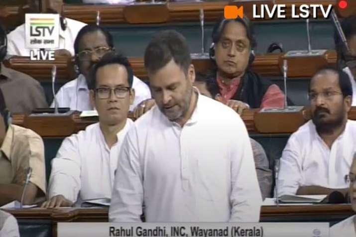 Rahul Gandhi rises farmers issue in Lok Sabha- India TV