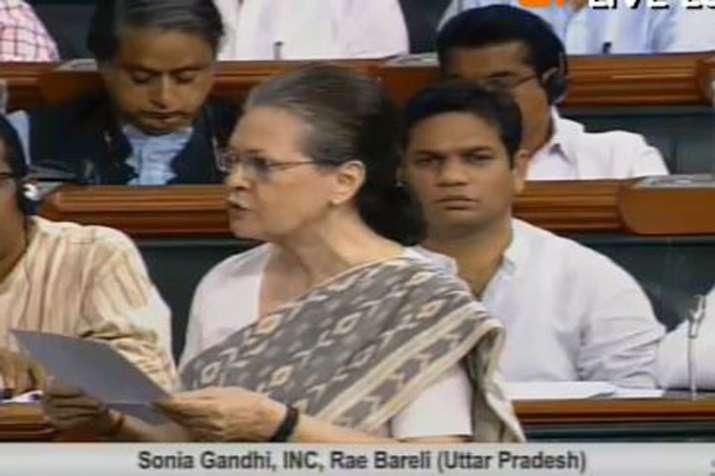 सोनिया गांधी ने लोकसभा में रायबरेली का मुद्दा उठाया- India TV