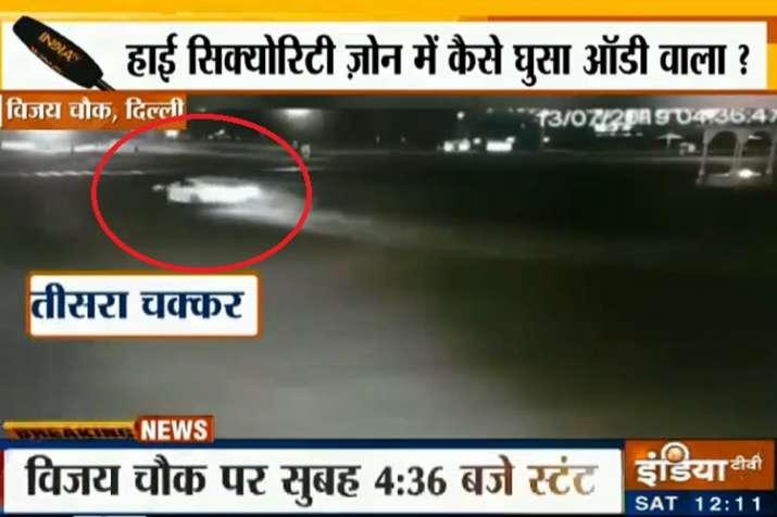 Audi car stunt- India TV