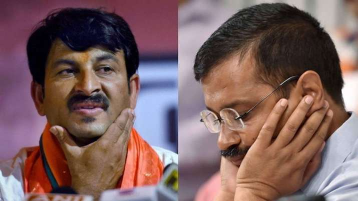 Manoj Tiwari and Arvind Kejariwal - India TV