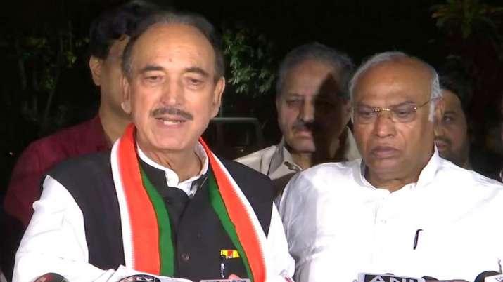 ghulam nabi azad kharge- India TV