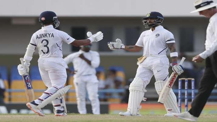 WI vs IND, 1st Test: रहाणे-विराट...- India TV