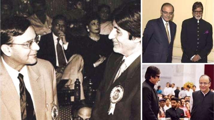 Amitabh Bachchan with Arun Jaitley- India TV