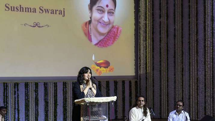 Bansuri Swaraj, daughter of former external affairs...- India TV
