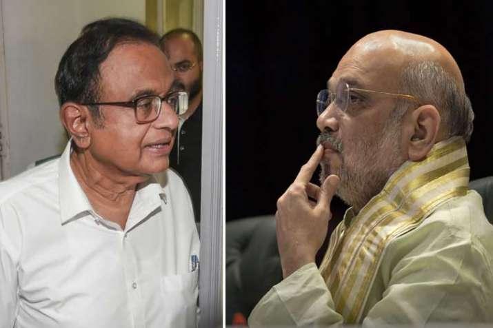 P Chiadambaram and Amit Shah- India TV