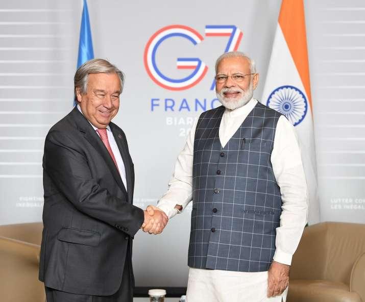 Prime Minister Narendra Modi meets António...- India TV