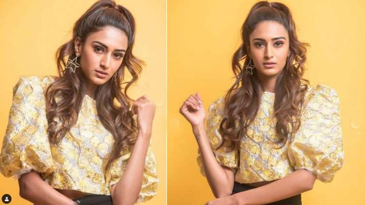 kasauti zindagi ki 2 actress erica fernandes looking hot in tellow crop top see photos- India TV