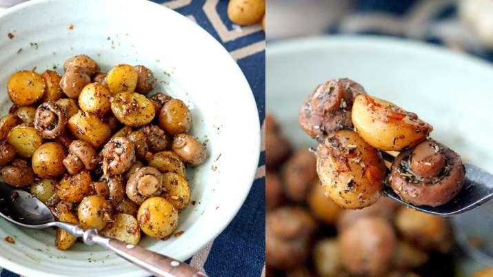 Pan Roasted Garlic Mushroom and Baby Potatoes- India TV