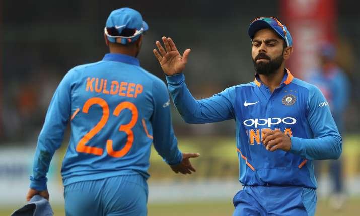 Kuldeep Yadav and Virat Kohli- India TV