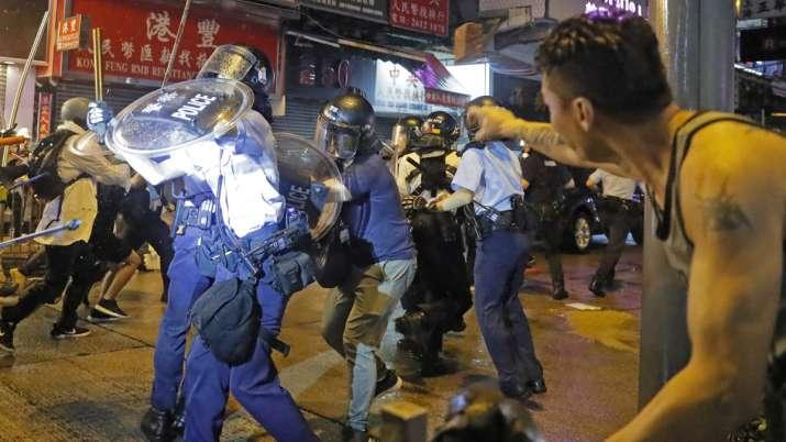 Hong Kong police arrest 36, youngest aged 12, after violent protests | AP- India TV