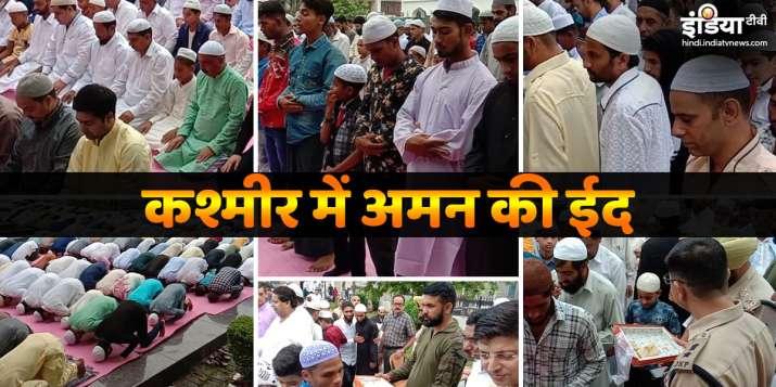 Situation in Kashmir peaceful on Eid, security alert...- India TV