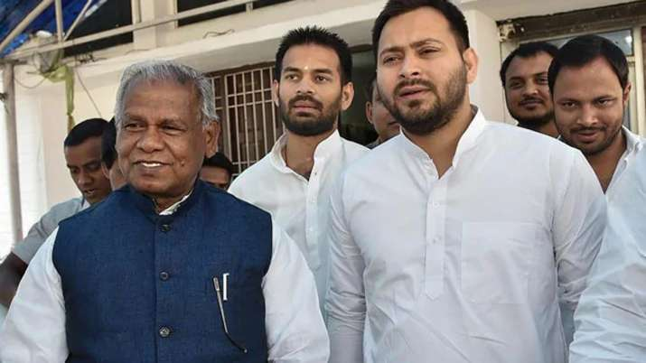 Jitan Ram Manjhi Tej Pratap Yadav and Tejashwi Yadav | PTI File- India TV