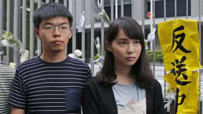 Joshua Wong arrested with other Hong Kong pro-democracy activists- India TV