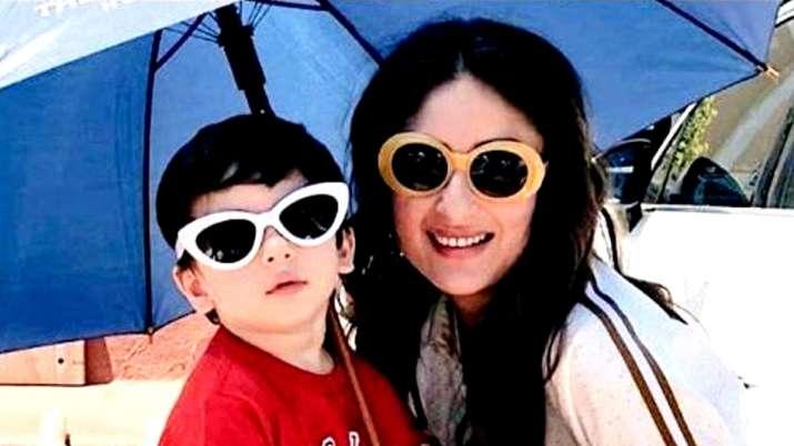 बेटे तैमूर के साथ करीना कपूर खान- India TV