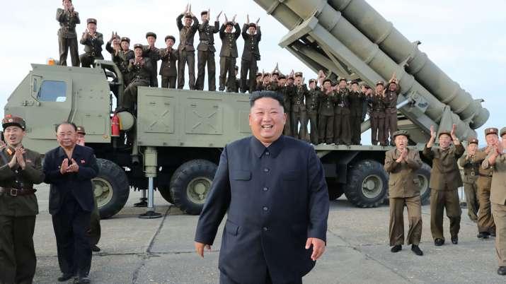 North Korean leader Kim Jong Un oversaw test of 'super-large multiple rocket launcher' | AP File- India TV