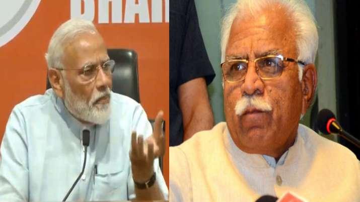 Narendra Modi and Manohar Lal Khattar- India TV