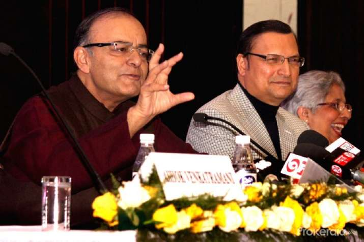 Rajat Sharma and Arun Jaitley- India TV