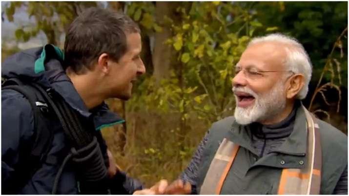 Bear Grylls Narendra Modi- India TV