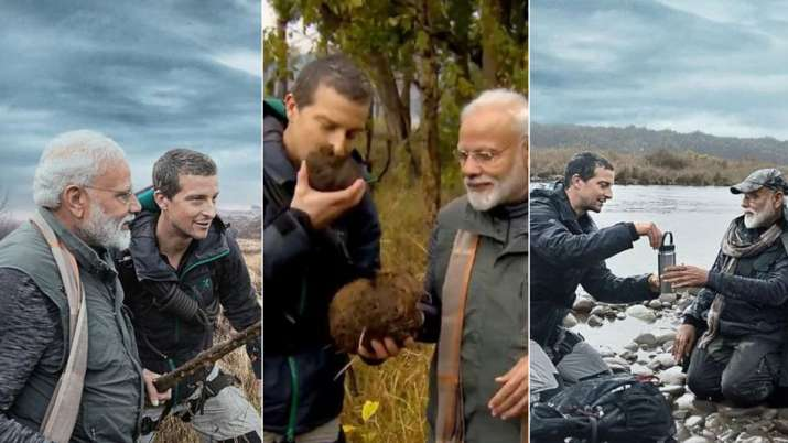 PM Modi in Man vs Wild Show- India TV