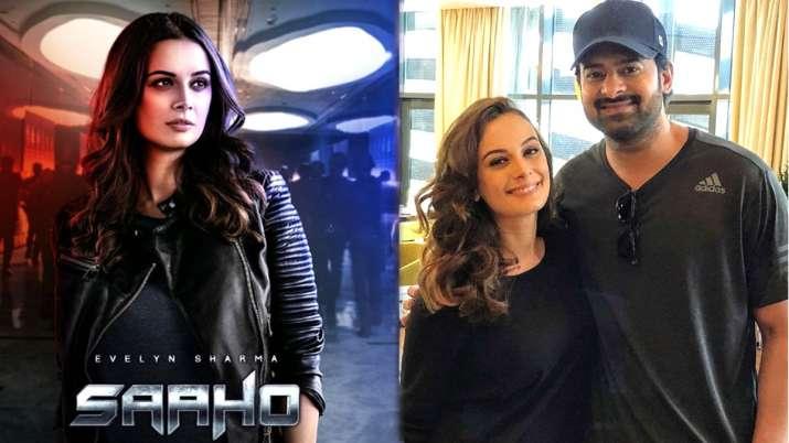 Evelyn Sharma with Prabhas- India TV