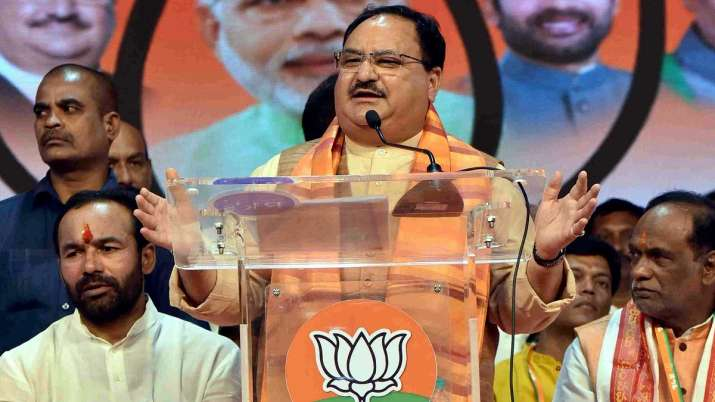 BJP Working President JP Nadda addressing at a public...- India TV