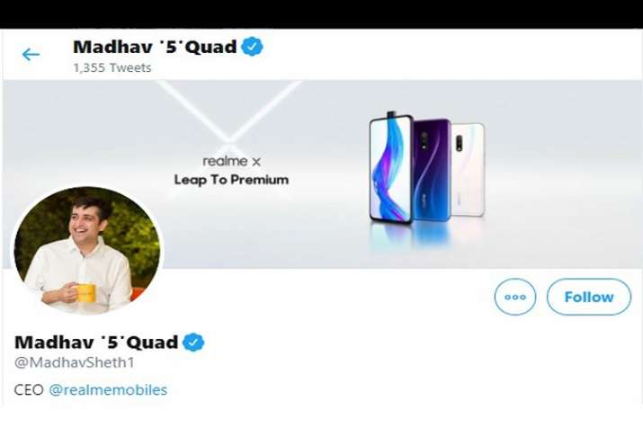 Does Realme CEO's name change on Twitter hint at a new device?- India TV Paisa