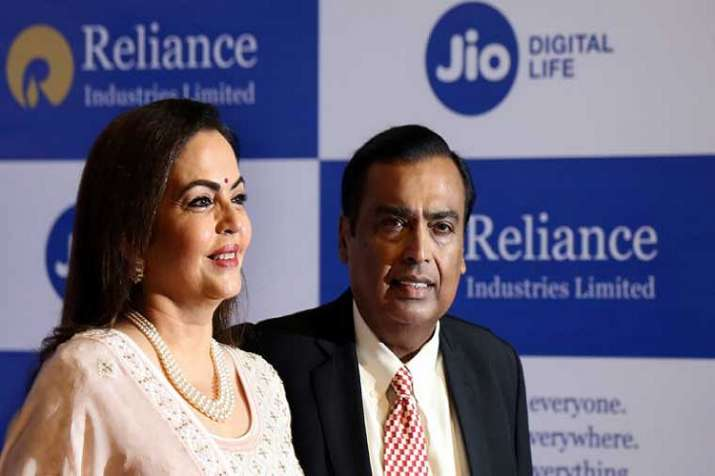 RIL Chairman Mukesh Ambani (right) with wife Neeta Ambani- India TV Paisa