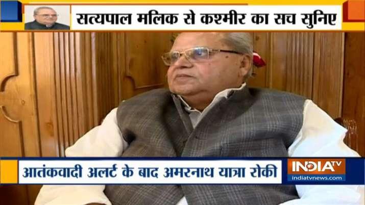 Jammu Kashmir Governor Satyapal Malik- India TV