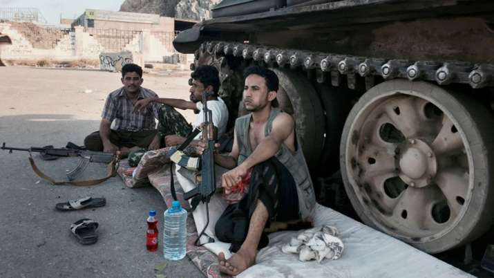 Members of a militia group loyal to Yemen's President Abed Rabbo Mansour Hadi- India TV
