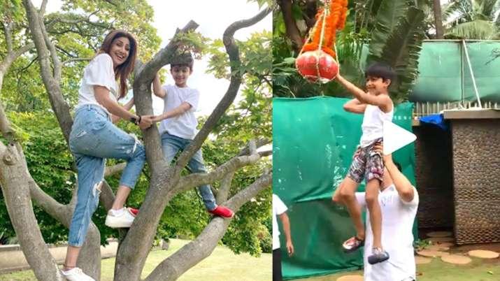 Shilpa Shetty with son Viaan- India TV