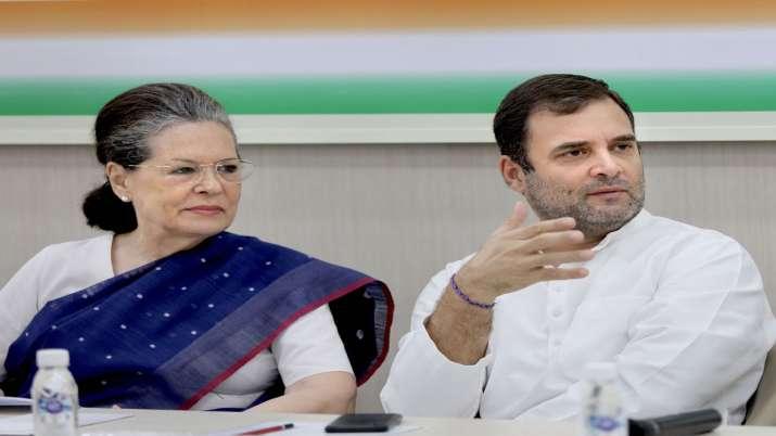 Sonia Gnahdi & Rahul Gandhi- India TV