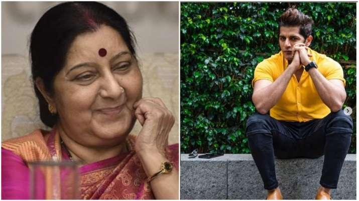 Sushma Swaraj and karanvir bohra- India TV