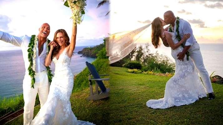 dwayne johnson wedding pics- India TV