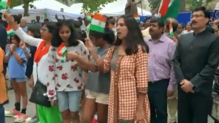 NRIs in Washington outnumber Khalistan supporters to celebrate Independence Day | ANI- India TV