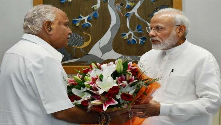 BS Yediurappa Meet PM Modi- India TV