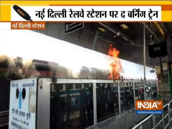 Fire at New Delhi Railway Station- India TV