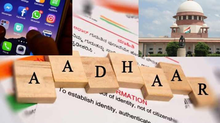 aadhaar linking with facebook whatsapp and twitter accounts supreme court will decide today- India TV Paisa