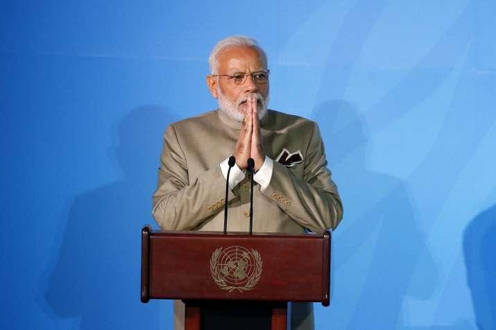 Prime Minister Narendra Modi addresses the Climate...- India TV