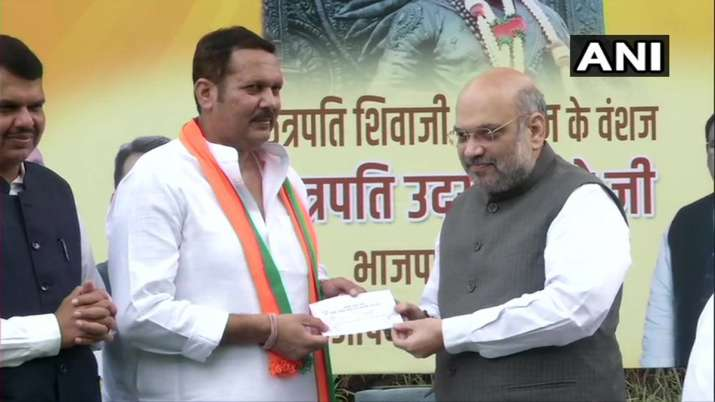 Descendant of Shivaji maharaj Udayanraje Bhosale joins BJP- India TV