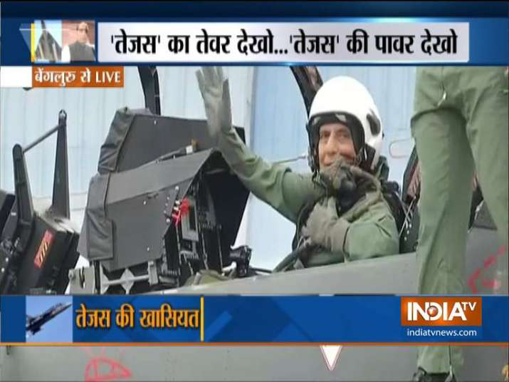 Rajnath Singh in Tejas- India TV