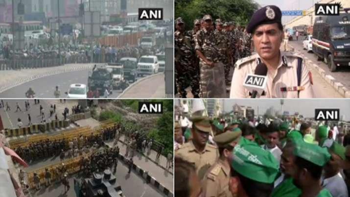 किसानों का आज दिल्ली मार्च, आंदोलन के मद्देनज़र सुरक्षा के कड़े इंतज़ाम- India TV