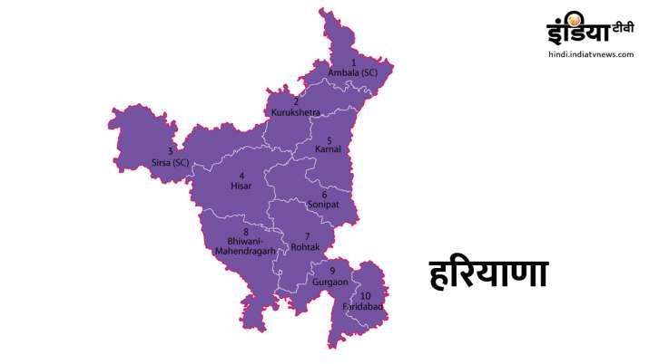 Total Votors, polling stations and complete detail of Haryana- India TV